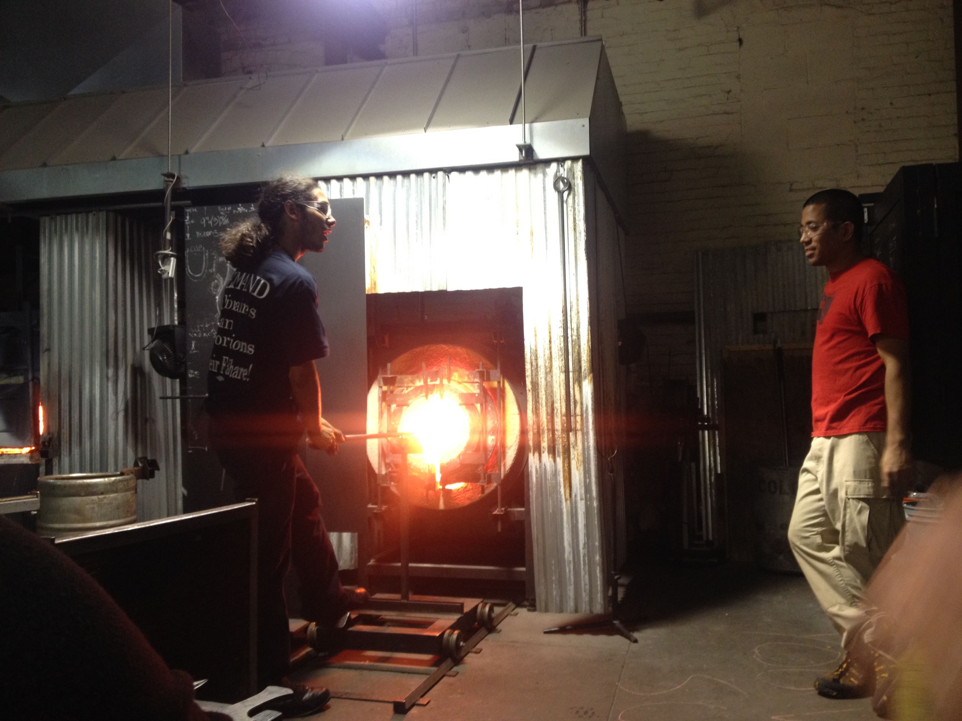 Newark glass blowing studio glassroots combines art and entrepreneurship for students