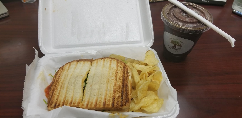 panini and juice